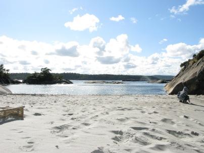 Fredriksen strand på Store Arøya